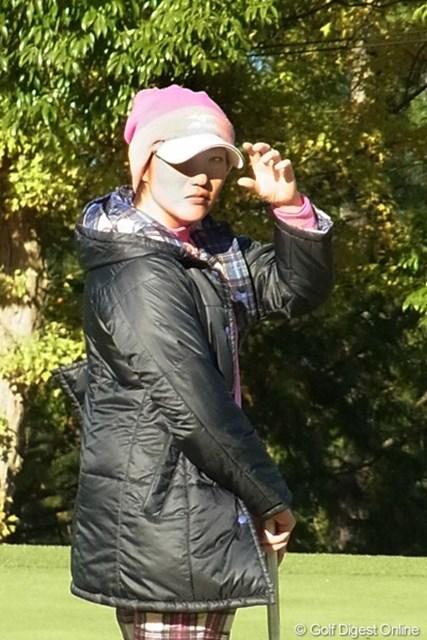 2010年 LPGAツアーチャンピオンシップリコーカップ 飯島茜 今年ミズノのボールにとってツアー初優勝という偉業を達成した飯島茜(撮影:リコー CX4)