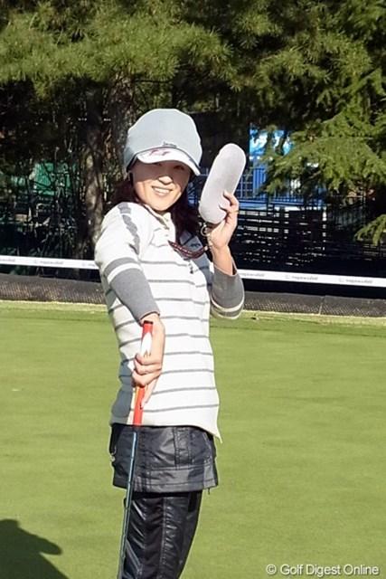 2010年 LPGAツアーチャンピオンシップリコーカップ 北田瑠衣 3年連続で賞金ランク、獲得賞金もアップしている北田瑠衣。いつも楽しそうにゴルフしています(撮影:リコー CX4)