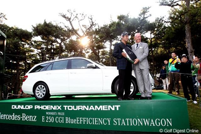2010年 ダンロップフェニックストーナメント 最終日 池田勇太 ベンツワゴンは若大将の手に。