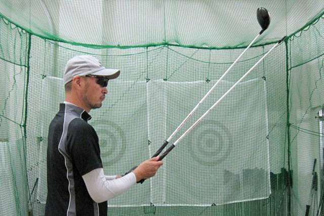マーク試打 本間ゴルフ パーフェクトスイッチ440 NO.4 はじめからシャフトが2本ついているのでお得感満載