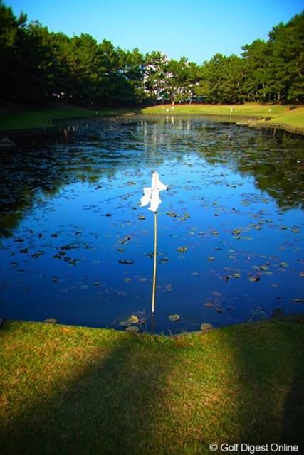 2010年 LPGAツアーチャンピオンシップリコーカップ事前情報 みそぎ池 黄泉の国から戻ったイザナギが禊を行ったというみそぎ池(撮影:リコー CX4/今岡涼太)
