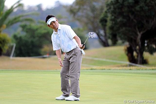 日本ツアーでは9年ぶりとなる単独首位浮上。ゴルフファンの誰もが、田中秀道の復活を待ち望んでいる
