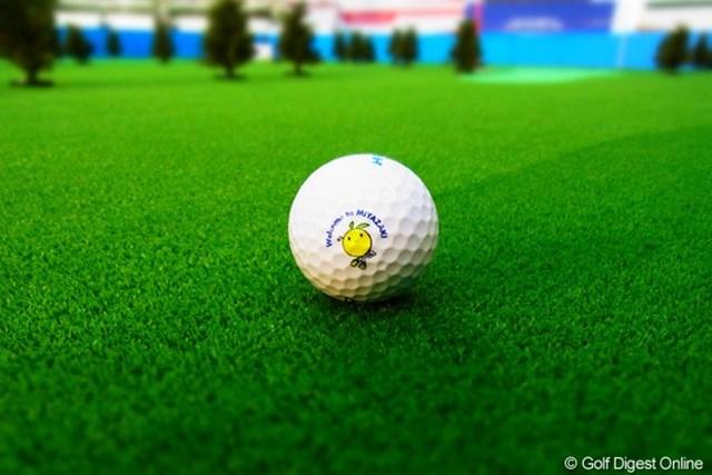 2010年 LPGAツアーチャンピオンシップリコーカップ事前情報 宮崎空港 空港内ゴルフイベントブースのパターゲームコーナー(撮影:リコー CX4/長浦庸一)