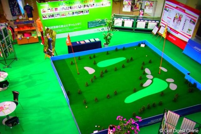 2010年 LPGAツアーチャンピオンシップリコーカップ事前情報 宮崎空港 2Fからイベントスペースを俯瞰で撮影(撮影:リコー CX4/長浦庸一)
