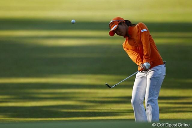 2010年 LPGAツアーチャンピオンシップリコーカップ 2日目 諸見里しのぶ 今日も6オーバーと大叩き。まだケガの調子が良くないのでしょうか・・・心配です。