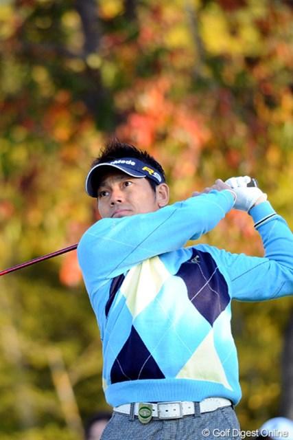 2010年 カシオワールドオープンゴルフトーナメント 2日目 田中秀道 6位タイにつける田中秀道は、単独8位以上がシード獲得の最低条件となる