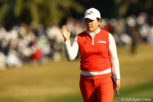2010年 LPGAツアーチャンピオンシップリコーカップ3日目 朴仁妃 08年の全米女子OP覇者が難コンディションをものともせずに首位浮上