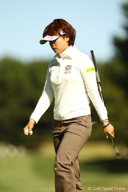 2010年 LPGAツアーチャンピオンシップリコーカップ3日目 森田理香子 初日は単独首位だったのに・・・今日はなんと82のワーストスコア。