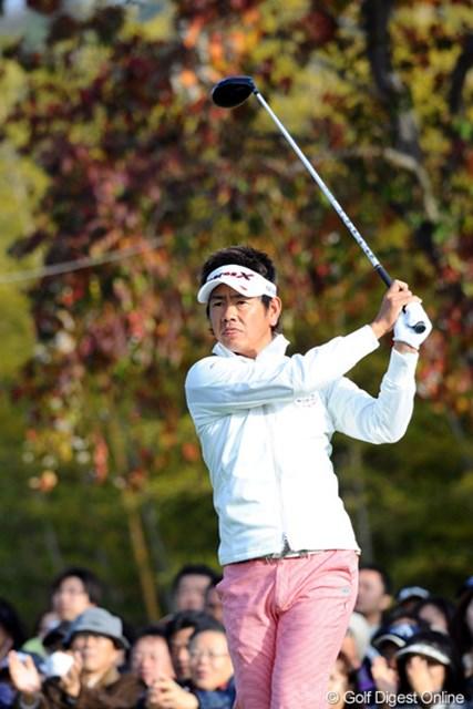 2010年 カシオワールドオープンゴルフトーナメント 最終日 藤田寛之 賞金王の可能性が消滅した藤田寛之だが、その表情は清々しかった