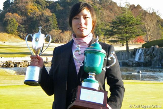 2010年 LPGA新人戦 加賀電子カップ 最終日 山本亜香里 初日から首位をキープし、山本亜香里が見事優勝を飾った
