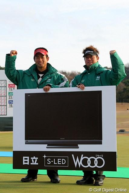 2010年 Hitachi 3Tours Championship 2010 池田勇太&松村道央 ダブルスに続き、シングルスでも勝利した池田勇太と松村道央がMVPに輝いた