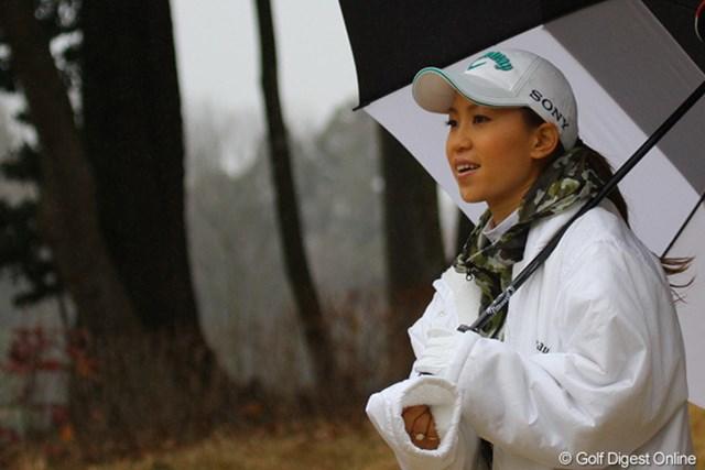 2010年 2010 Callaway CUP 上田桃子 ニアピン対決では「アマチュアに負けたくない!」と本気でピンを狙っていた上田桃子
