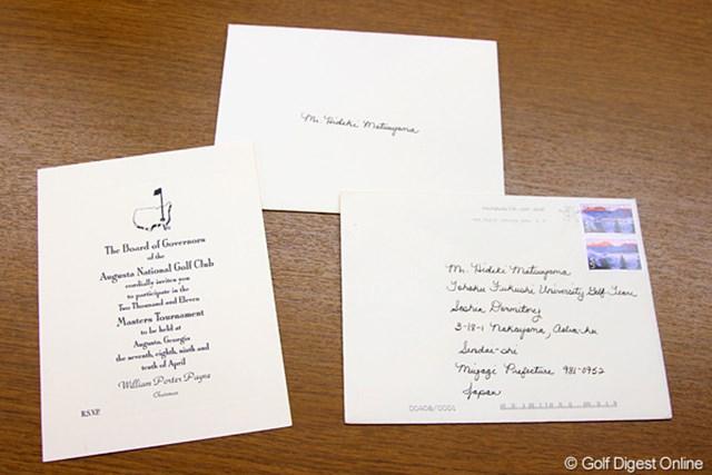 アマチュアとしては日本人初出場!歴史的な招待状