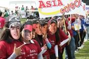 2011年 ザ・ロイヤルトロフィ 初日 アジア選抜の応援団