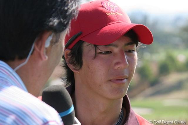 2011年 ザ・ロイヤルトロフィ 石川遼 最終日、石川も敗れ、チームもまさかの大逆転負け。石川の表情も茫然自失といったところか