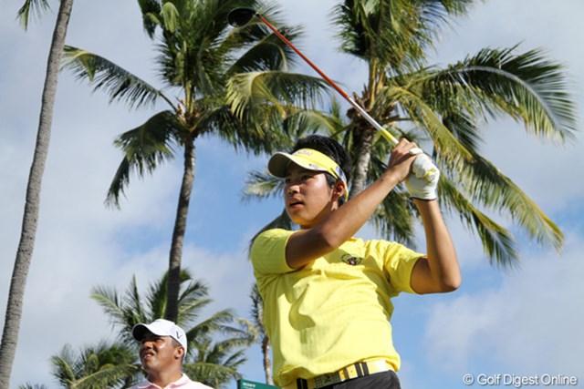 2011年 ソニーオープンinハワイ 3日目 松山英樹 「後半に入って自分ゴルフができた」と話す松山英樹。世界最高峰のレベルの高さを痛感した