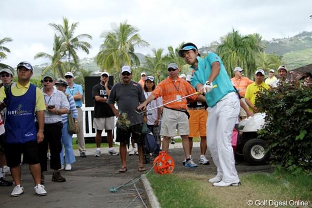 2011年 ソニーオープンinハワイ 松山英樹 今大会、自分にとっていい経験になったと話す松山英樹。次の海外試合が楽しみだ