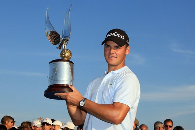 2010年 アブダビゴルフ選手権 最終日 マーティン・カイマー 昨年覇者のM.カイマー。強豪揃いの戦いを制して連覇なるか