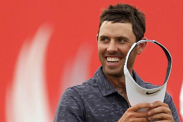 2週連続優勝なるか?勢いにのり初日単独首位に立った南アフリカのチャール・シュワルツェル(Ross Kinnaird/Getty Images)