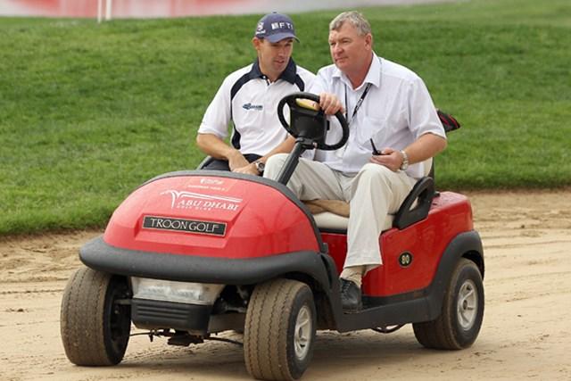 アブダビゴルフ選手権で、視聴者からの指摘で失格に追い込まれたパドレイグ・ハリントン(Ross Kinnaird/Getty Images)
