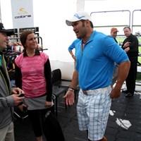 MLB選手のジョニー・デーモンがプーマのウエアを着て、デモデーに参加 最新ギアの祭典!「2011年 PGAマーチャンダイスショー デモデー」レポート NO.5