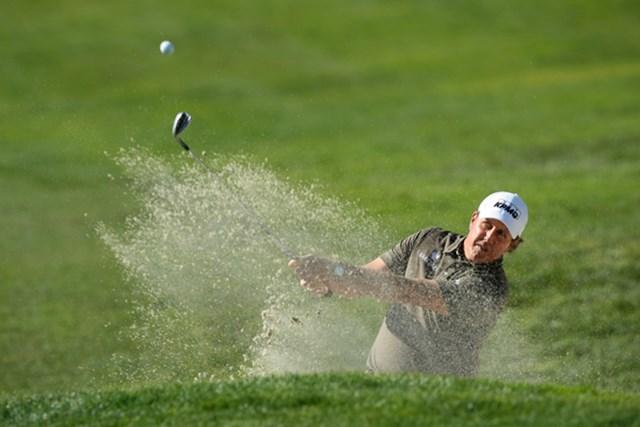 首位タイに浮上したP.ミケルソン。4度目の大会制覇に王手をかけた!(Donald Miralle/Getty Images)