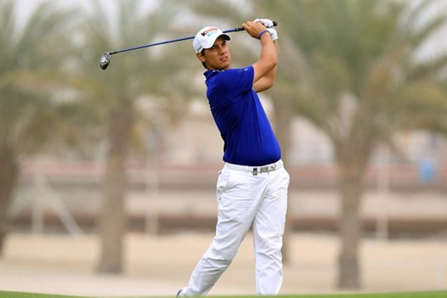2011年 ボルボゴルフチャンピオンズ 3日目 マッテオ・マナッセロ 首位に3打差まで詰め寄り、最終日を迎えるイタリアの新星・M.マナッセロ(David Cannon/Getty Images)