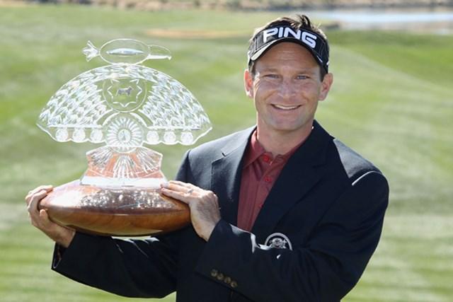 プレーオフを制し早くも今季2勝目を果たしたマーク・ウィルソン(Christian Petersen/Getty Images)