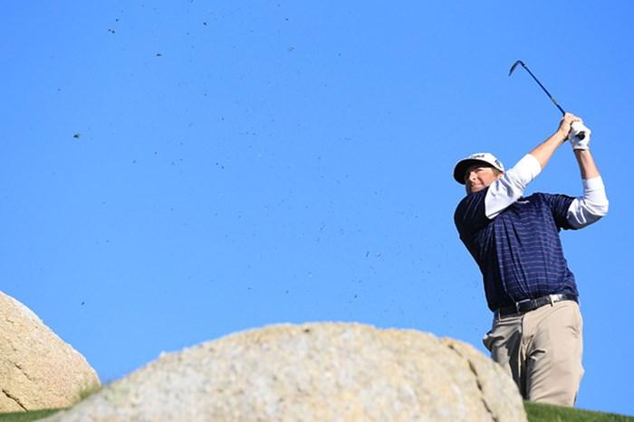 ツアー初優勝へ向け、2位に1打差で最終日を迎えるスティーブ・マリノ(Jed Jacobsohn/Getty Images)  スティーブ・マリノ 2011年 AT&Tペブルビーチナショナルプロアマ