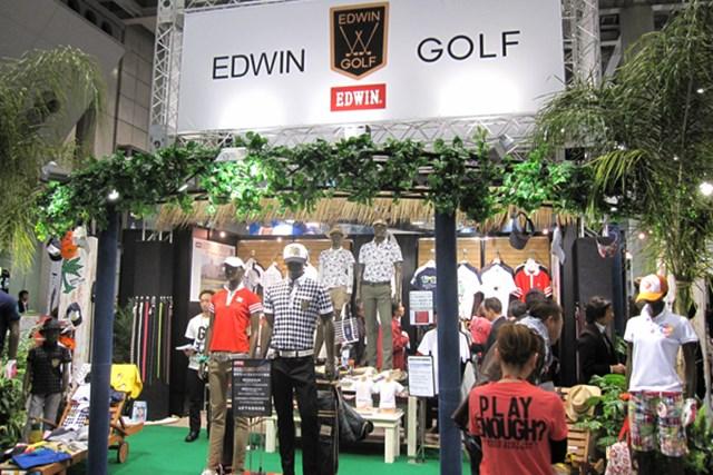 女性急増でファッションショーを開催!第45回ジャパンゴルフフェアが開幕 NO.26 アメリカンテイストなブースのエドウィンゴルフ