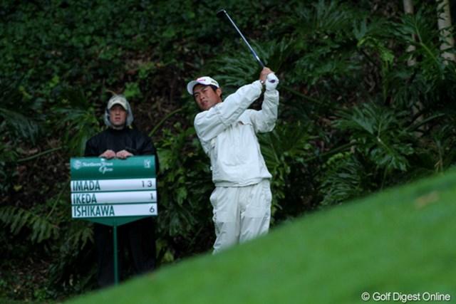2011年 ノーザントラストオープン 2日目 池田勇太 日本勢では孤軍奮闘の池田勇太。残り2ホールに予選通過をかける