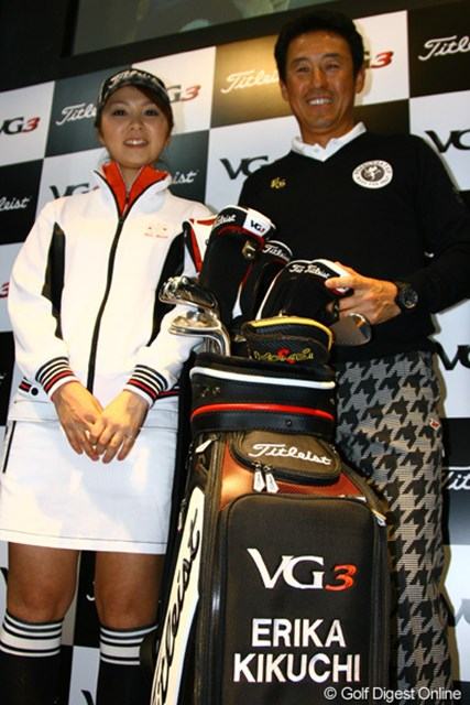 ともにVG3でツアー勝利を誓った、芹澤信雄と菊地絵理香