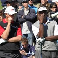 「歯につまっちゃったよ」「俺はいつもコレだよ、ティペグさ」 2011年 ノーザントラストオープン 最終日 ジョン・センデン&ビジェイ・シン