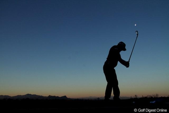 夜明け前にコース入りした石川は、一人黙々と練習を行った