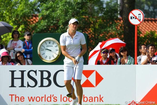 スーザン・ペターセンは同組の上田桃子と同じ1オーバーで第1ラウンドを終了