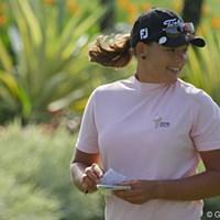 笑顔でラウンドするキャサリン・ハル 2011年 HSBC女子チャンピオンズ 初日 キャサリン・ハル