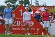 2011年 HSBC女子チャンピオンズ 最終日 有村智恵、カリー・ウェブ、ヤニ・ツェン