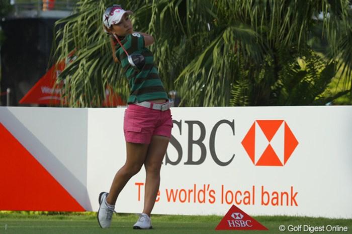 コースマネジメントに苦しんだ上田桃子 2011年 HSBC女子チャンピオンズ 最終日 上田桃子