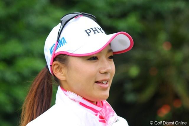 シンガポールから帰国後、取材が多くなったと話す有村智恵。ファンの期待に応えられるか!?