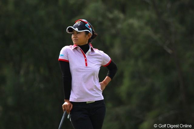 2011年 ダイキンオーキッドレディスゴルフトーナメント 初日 宮里藍 この日はちょっぴりあきらめ顔の宮里藍
