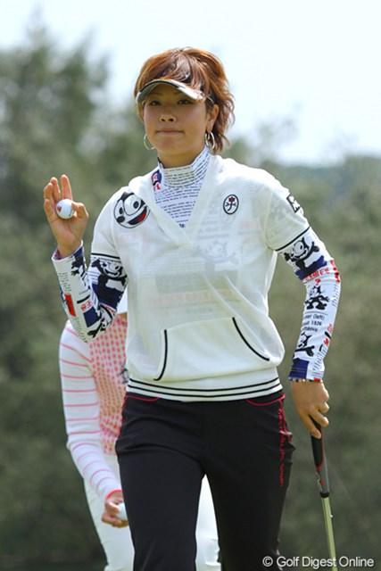 2011年 ダイキンオーキッドレディスゴルフトーナメント 初日 森田理香子 それはフェリックス君じゃないですか、理香子さん