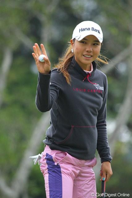 2011年 ダイキンオーキッドレディスゴルフトーナメント 初日 パク・ヒヨン 米ツアーから参戦するパク・ヒヨン