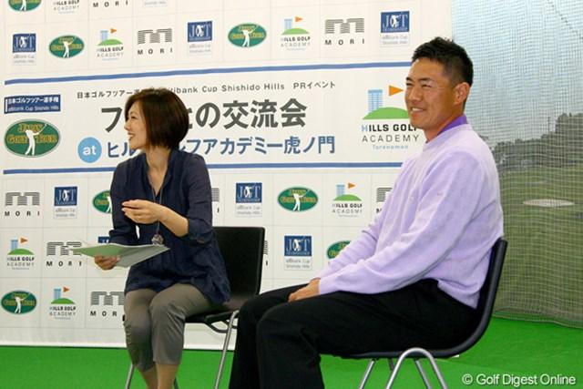 2011年 「日本ゴルフツアー選手権 Citibank Cup Shishido Hills」ファンとの交流会 横尾要 ツアー選手権のPRを兼ねたファンとの交流会に出席した横尾要