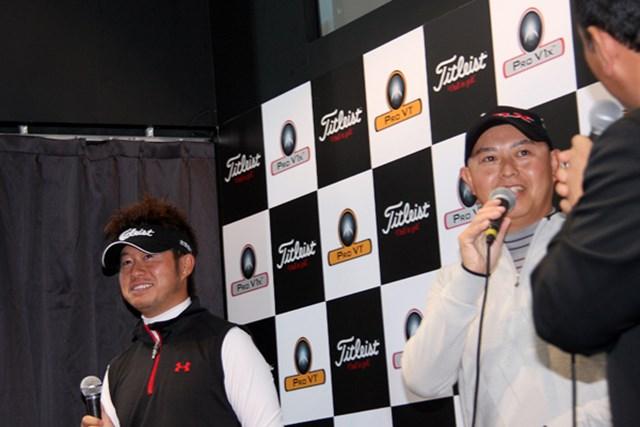 """松村道央は、今年も谷口徹が主催する宮崎合宿へ。今シーズンも熾烈な""""師弟対決""""が見られそうだ"""