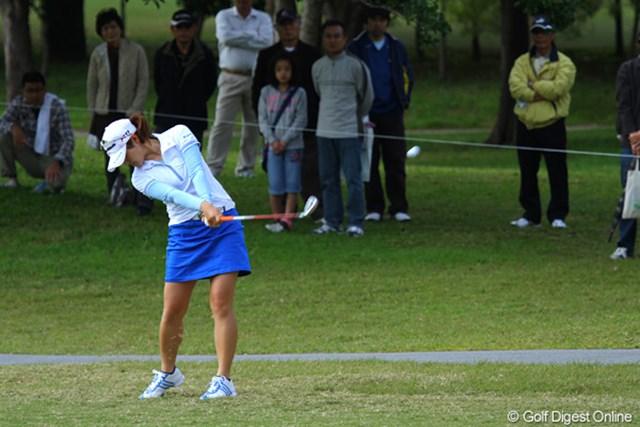 2011年 ダイキンオーキッドレディスゴルフトーナメント 最終日 諸見里しのぶ ホステスプロの諸見里しのぶは、4オーバーの47位タイ。最低限の仕事は果たした
