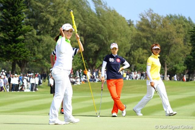 2011年 ダイキンオーキッドレディスゴルフトーナメント 最終日 朴仁妃 最終ホールもあっさりとバーディを奪って優勝を決めた朴仁妃