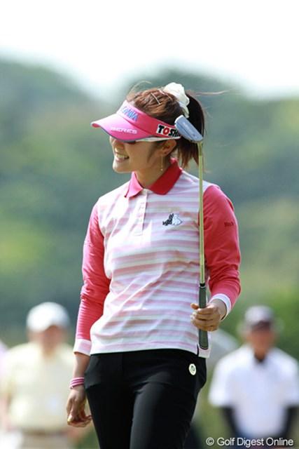 2011年 ダイキンオーキッドレディスゴルフトーナメント 最終日 藤田幸希 首位からスタートも、スコアを伸ばせず10位タイに終わった藤田幸希