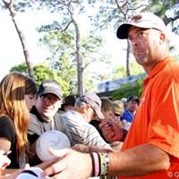 ギャレット・ウィリスと並んでトップタイに立ったクリス・コーチ クリス・コーチ 2011年 トランジションズ選手権2日目