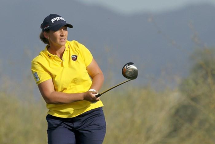 初日を終え、首位に立つアンジェラ・スタンフォード(Stephen Dunn/Getty Images)  アンジェラ・スタンフォード 2011年 RRドネリー LPGA ファウンダーズカップ