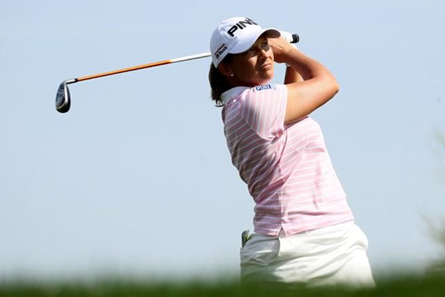 2011年 RRドネリー LPGA ファウンダーズカップ 2日目 アンジェラ・スタンフォード 連日の「66」をマークし、首位をキープしたA.スタンフォード (Stephen Dunn/Getty Images)